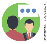 a speech bubble  two persons... | Shutterstock .eps vector #1007313676