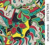seamless mehndi vector pattern. ... | Shutterstock .eps vector #1007317045