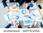 business people working on... | Shutterstock . vector #1007321056