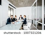 business people working with... | Shutterstock . vector #1007321206