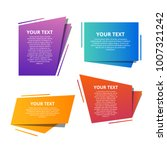 style text templates speed... | Shutterstock .eps vector #1007321242