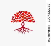 abstract tree  vibrant  love... | Shutterstock .eps vector #1007322292