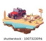 vector low poly off road... | Shutterstock .eps vector #1007323096