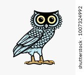 owl illustration logo vector ... | Shutterstock .eps vector #1007324992