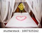 heart shape from pink rose... | Shutterstock . vector #1007325262
