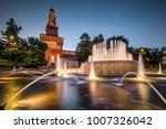 sforza castle  castello... | Shutterstock . vector #1007326042