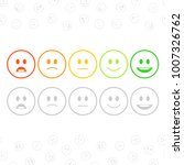 feedback emoticon set in flat... | Shutterstock .eps vector #1007326762
