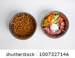 concept of food for pets. barf  ... | Shutterstock . vector #1007327146