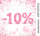 clearance sale on valentine's... | Shutterstock .eps vector #1007329312