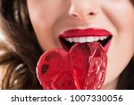 cropped image of seductive girl ... | Shutterstock . vector #1007330056