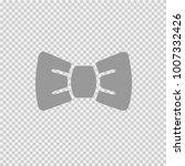 bow tie vector icon eps 10.... | Shutterstock .eps vector #1007332426