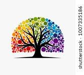 abstract vibrant tree logo... | Shutterstock .eps vector #1007335186