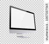 monitor for pc on transparent... | Shutterstock .eps vector #1007337565