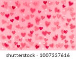 3d pink and red heart shape and ... | Shutterstock . vector #1007337616
