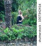 attractive teen girl in a... | Shutterstock . vector #1007342416