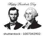 happy presidents day. abraham... | Shutterstock .eps vector #1007342902