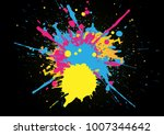 abstract splatter color on... | Shutterstock .eps vector #1007344642