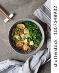 diet vegetarian bowl of soba... | Shutterstock . vector #1007348932