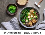diet vegetarian bowl of soba... | Shutterstock . vector #1007348935