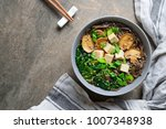 diet vegetarian bowl of soba... | Shutterstock . vector #1007348938
