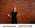 portrait of beautiful blonde ... | Shutterstock . vector #1007351398