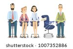 empty vacant chair. people... | Shutterstock .eps vector #1007352886