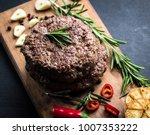delicious beef burger steak... | Shutterstock . vector #1007353222