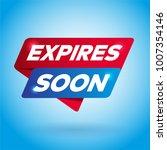expires soon arrow tag sign. | Shutterstock .eps vector #1007354146