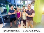 fitness  sport and people... | Shutterstock . vector #1007355922