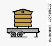 bee hives logo design template | Shutterstock .eps vector #1007358202