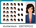 set of woman's emotions design. ... | Shutterstock .eps vector #1007359222