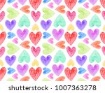 hearts repeating pattern | Shutterstock . vector #1007363278