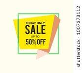sale banner ad discount 50...   Shutterstock .eps vector #1007373112