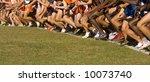 several dozen atheletes at the... | Shutterstock . vector #10073740