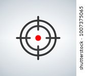 crosshair with red dot icon ... | Shutterstock .eps vector #1007375065