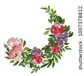 spring ornament with plants ... | Shutterstock . vector #1007378812