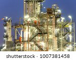 close up refinery night view ... | Shutterstock . vector #1007381458