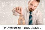 young handsome businessman...   Shutterstock . vector #1007383312