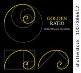 golden ratio template set.... | Shutterstock .eps vector #1007386612