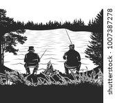 fishing logo. bass fish club... | Shutterstock .eps vector #1007387278
