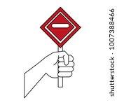 hand with roadsign | Shutterstock .eps vector #1007388466