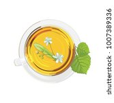 a cup of tea with linden flower ... | Shutterstock .eps vector #1007389336