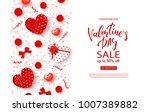 valentines day sale banner.... | Shutterstock .eps vector #1007389882