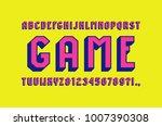 sans serif bulk font in the...   Shutterstock .eps vector #1007390308