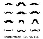 set of mustaches isolated on... | Shutterstock .eps vector #100739116