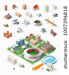 build your own isometric city . ... | Shutterstock .eps vector #1007396818