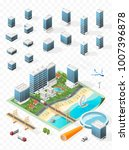build your own isometric city . ... | Shutterstock .eps vector #1007396878