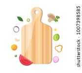 chopped vegetable with cutting... | Shutterstock .eps vector #1007398585