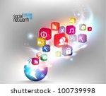 conceptual social network...   Shutterstock .eps vector #100739998