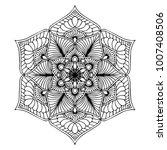 mandalas for coloring book.... | Shutterstock .eps vector #1007408506